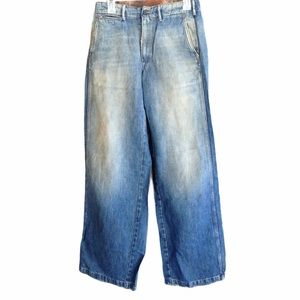 Ralph Lauren Distressed Wide Leg Jeans NWOT